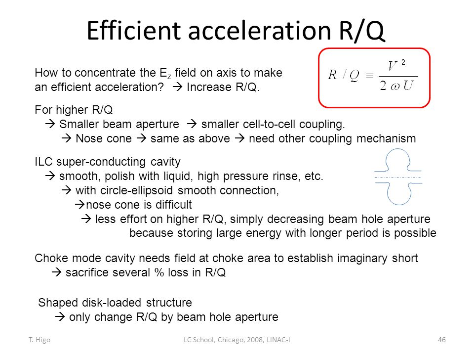 Efficient acceleration R/Q