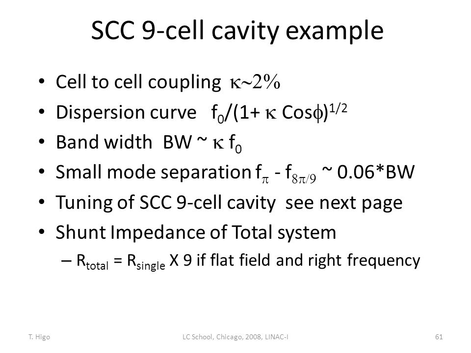 SCC 9-cell cavity example