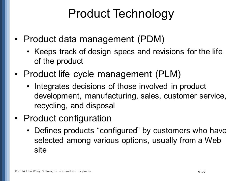Product Technology Product data management (PDM)