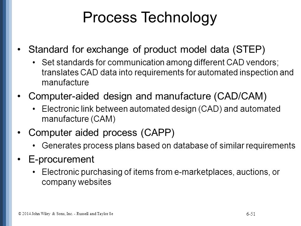 Process Technology Standard for exchange of product model data (STEP)