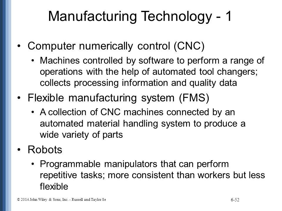 Manufacturing Technology - 1