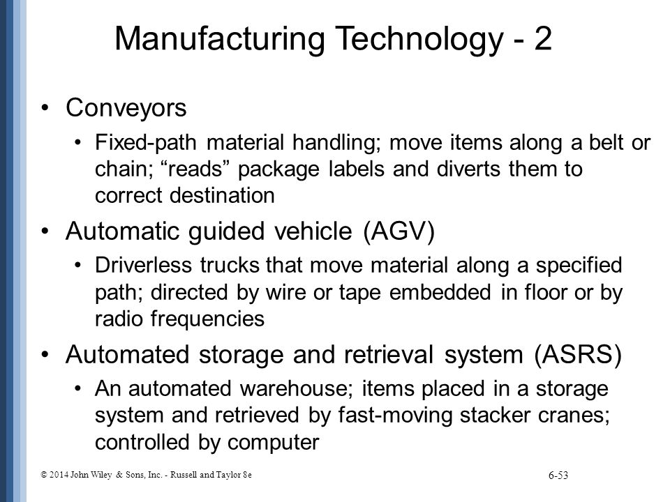 Manufacturing Technology - 2