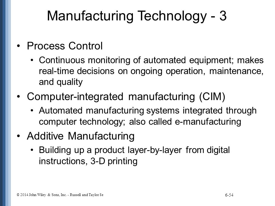 Manufacturing Technology - 3