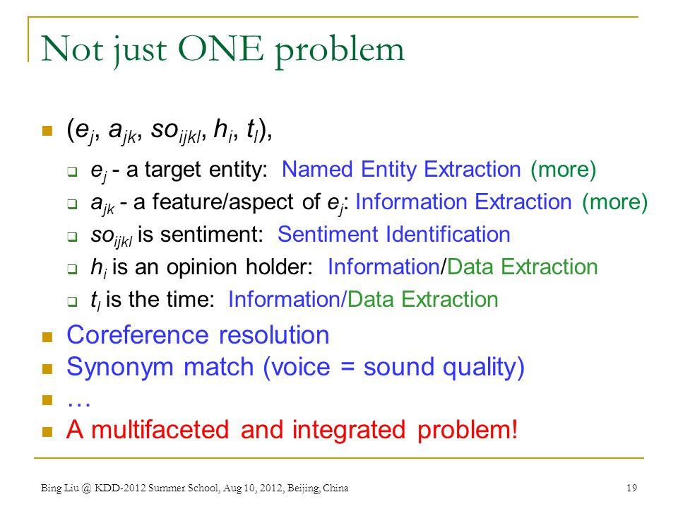 Not just ONE problem (ej, ajk, soijkl, hi, tl), Coreference resolution