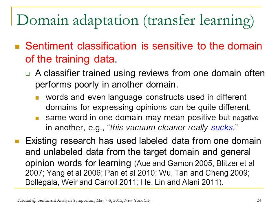 Domain adaptation (transfer learning)