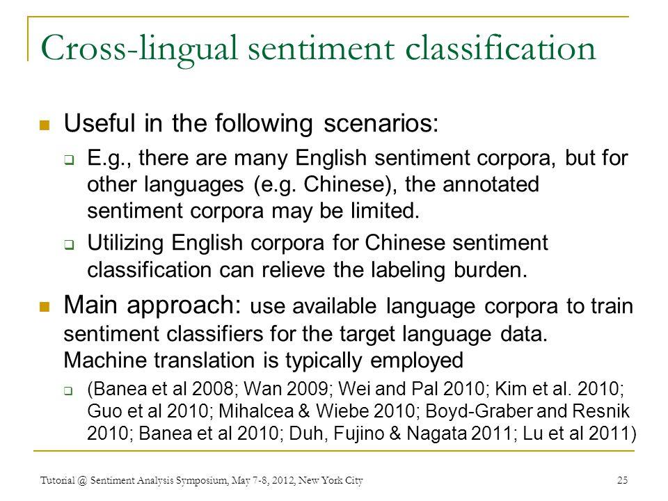 Cross-lingual sentiment classification