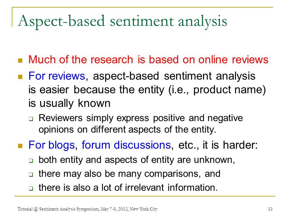 Aspect-based sentiment analysis