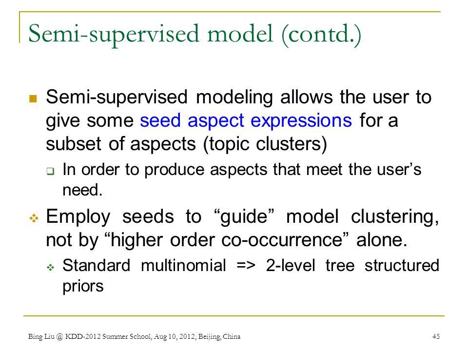 Semi-supervised model (contd.)