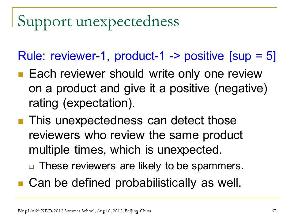 Support unexpectedness