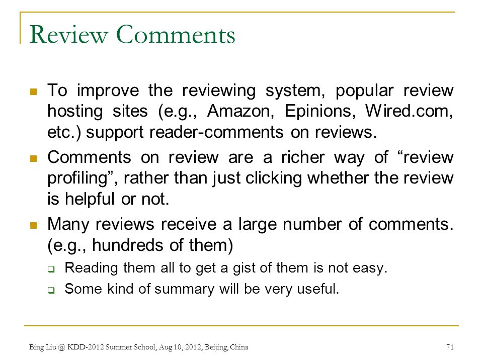 Review Comments