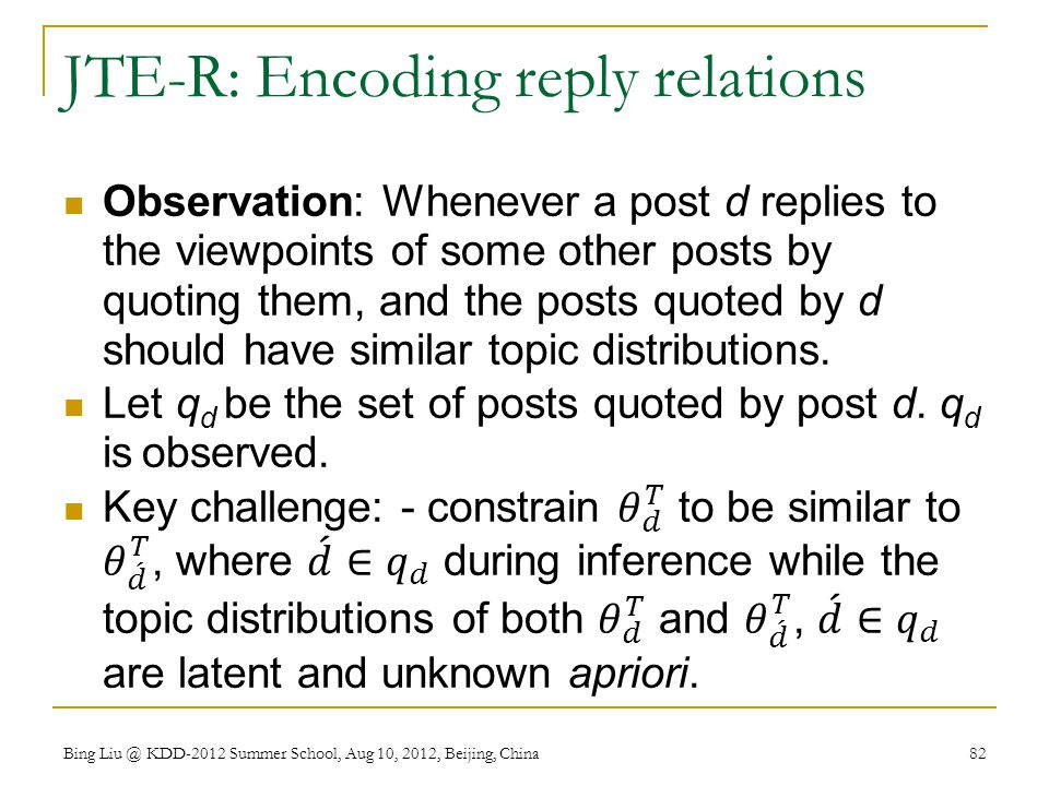 JTE-R: Encoding reply relations