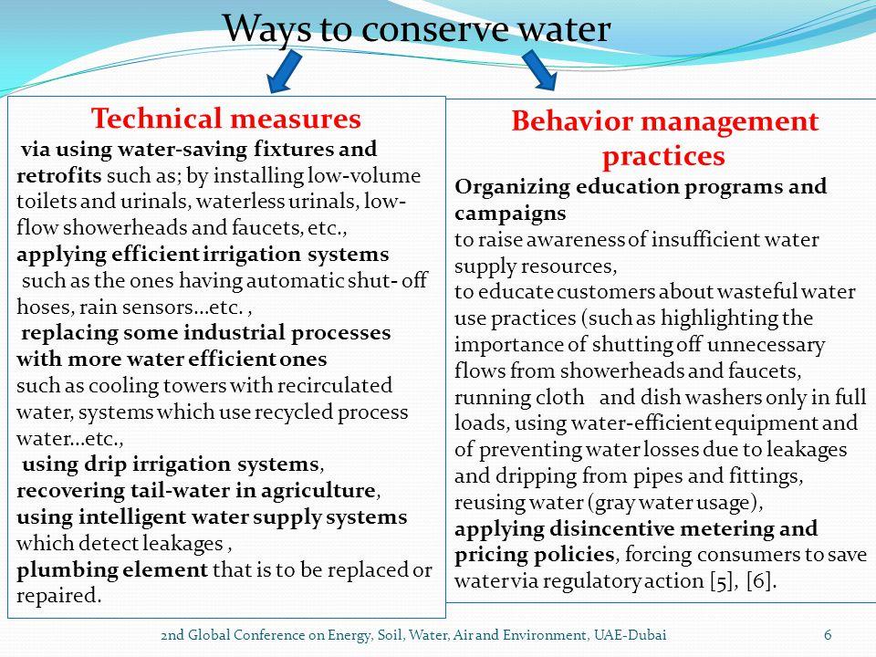 Behavior management practices