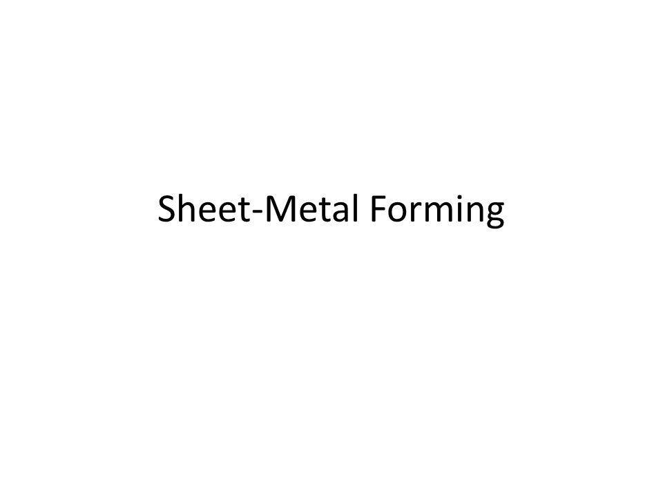 Sheet-Metal Forming