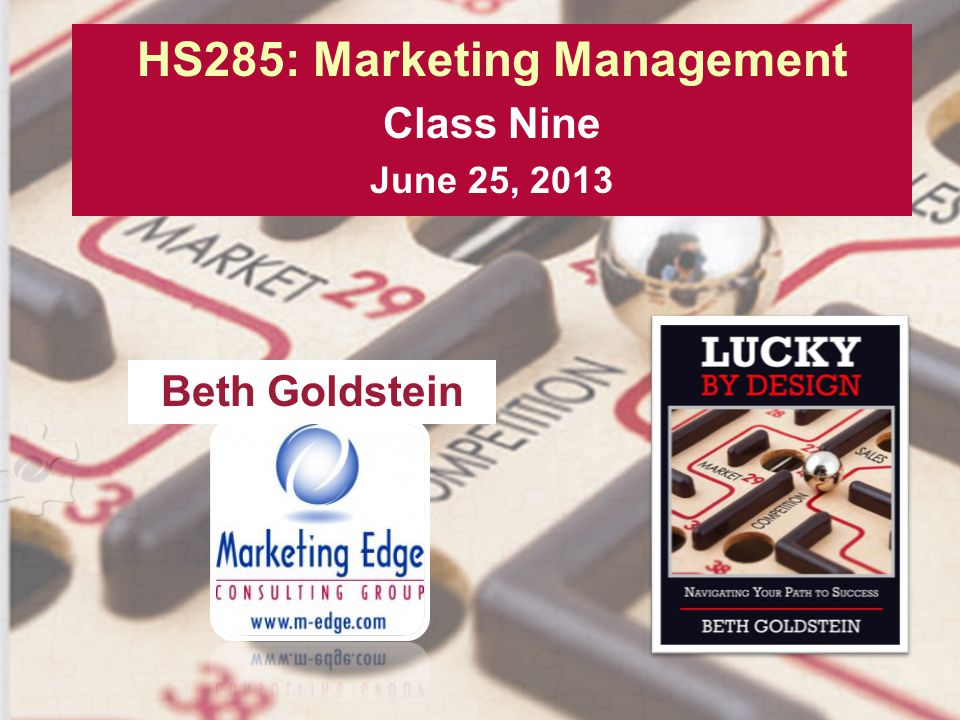 HS285: Marketing Management