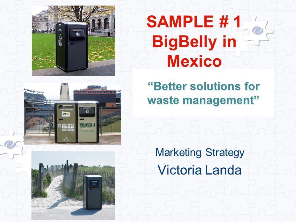 Better solutions for waste management