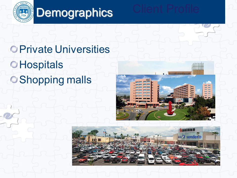 Client Profile Demographics Private Universities Hospitals