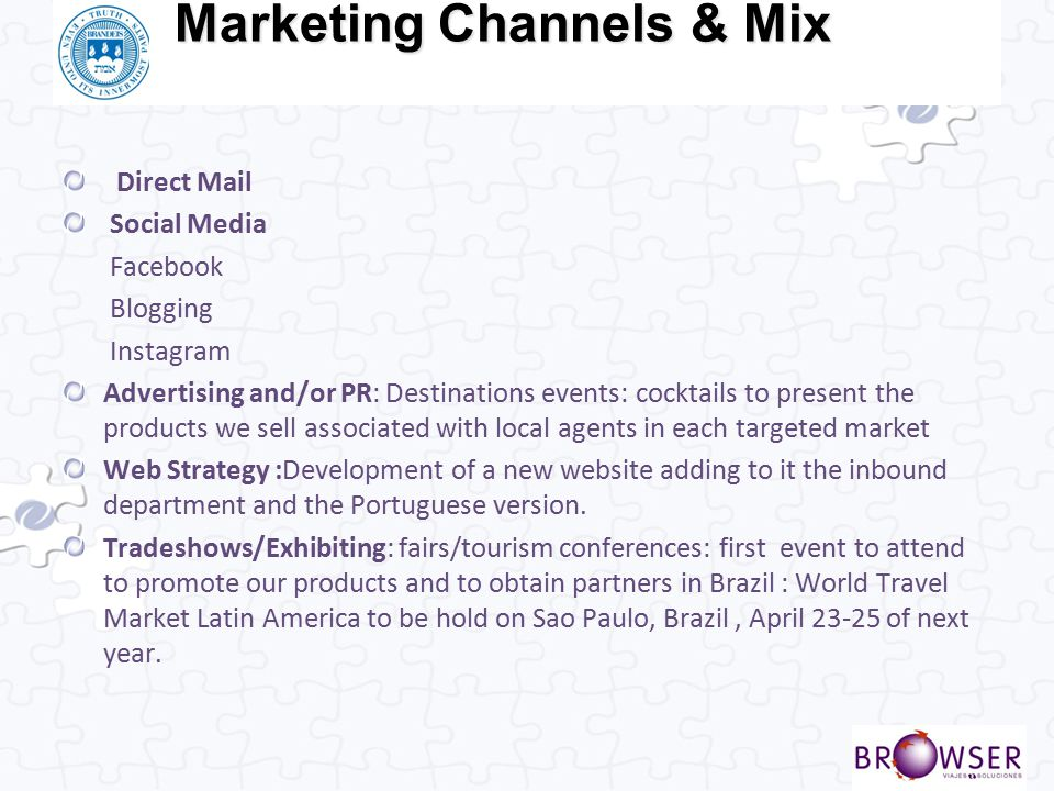 Marketing Channels & Mix