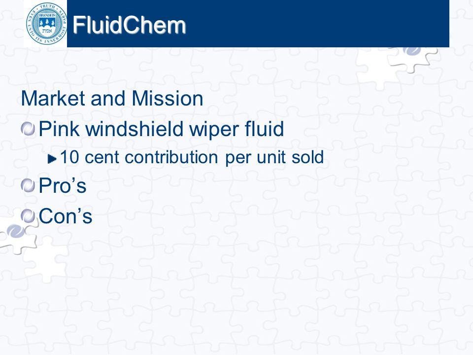 FluidChem Market and Mission Pink windshield wiper fluid Pro's Con's