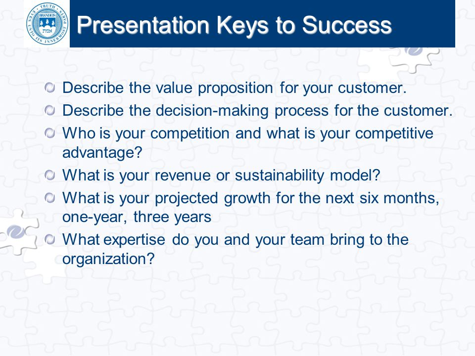 Presentation Keys to Success