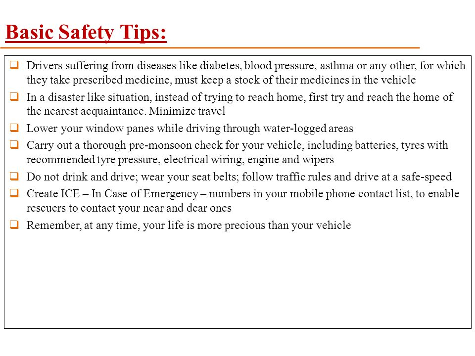Basic Safety Tips: