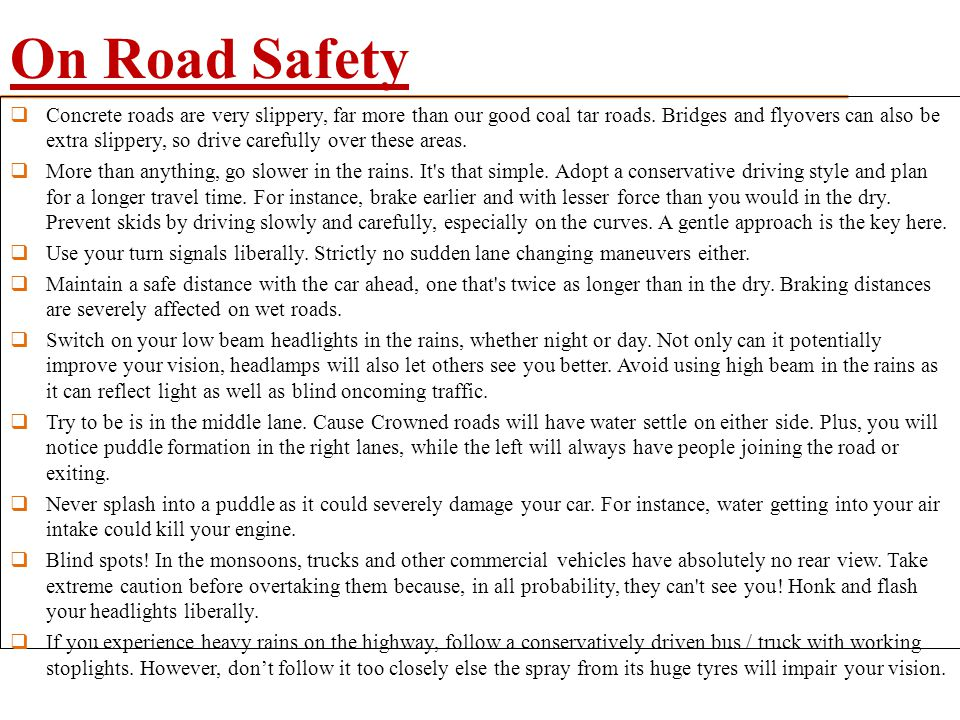 On Road Safety