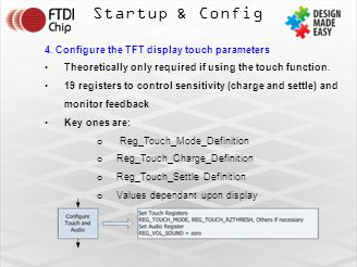 Startup & Config 4. Configure the TFT display touch parameters