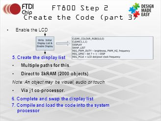 FT800 Step 2 Create the Code (part 3) Enable the LCD