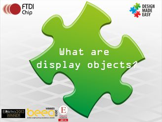 What are display objects
