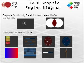 FT800 Graphic Engine Widgets