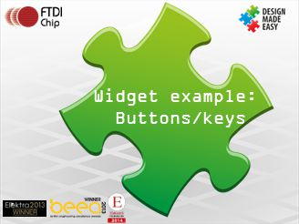 Widget example: Buttons/keys