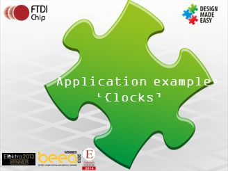 Application example: 'Clocks'