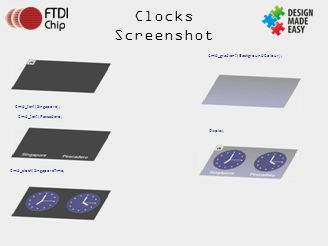 Clocks Screenshot Cmd_text(Pescadero; Cmd_gradient(BackgroundColour);