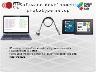 Software development prototype setup