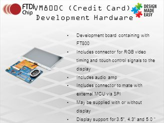 VM800C (Credit Card) Development Hardware