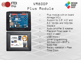 VM800P Plus Module Plus module with on board Atmega MCU
