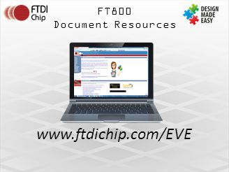 FT800 Document Resources www.ftdichip.com/EVE Jump to EVE page