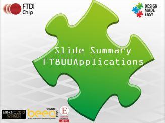 Slide Summary FT800Applications