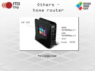 Others – home router For wireless router