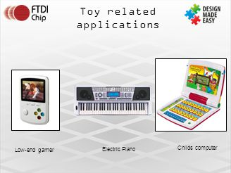 Toy related applications Low-end gamer Electric Piano Childs computer