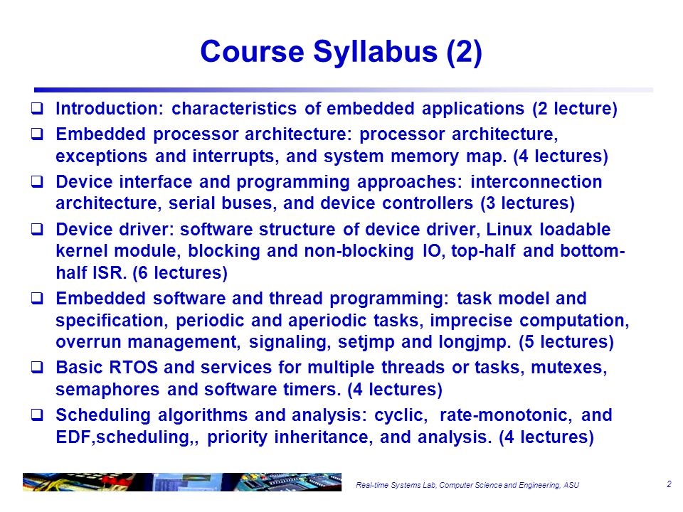 Course Syllabus (3) Office hours –2:30pm-4:00pm, Tuesday and Thursday