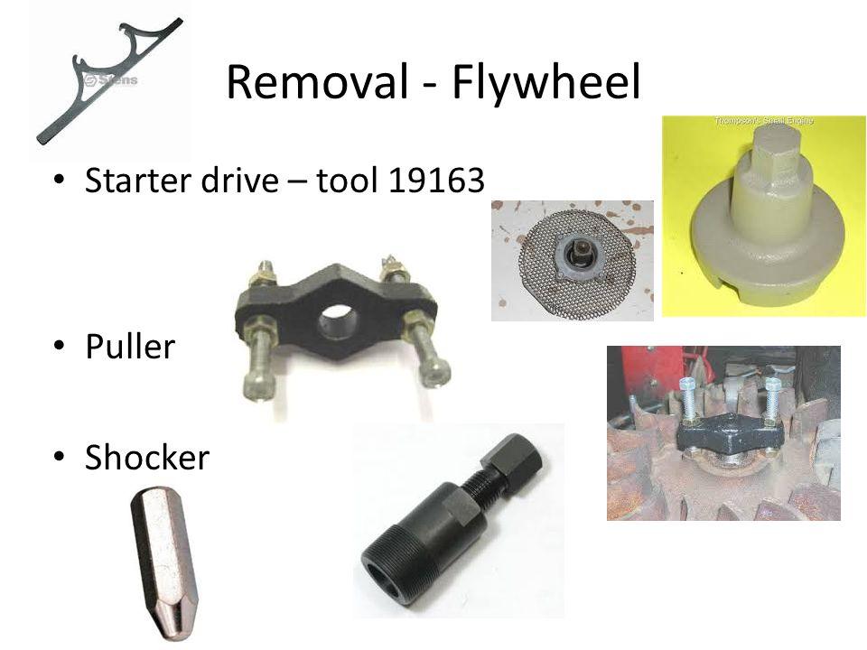 Removal - Flywheel Starter drive – tool 19163 Puller Shocker