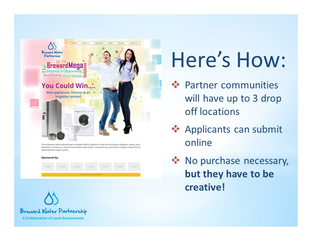 Here's How: Partner communities will have up to 3 drop off locations