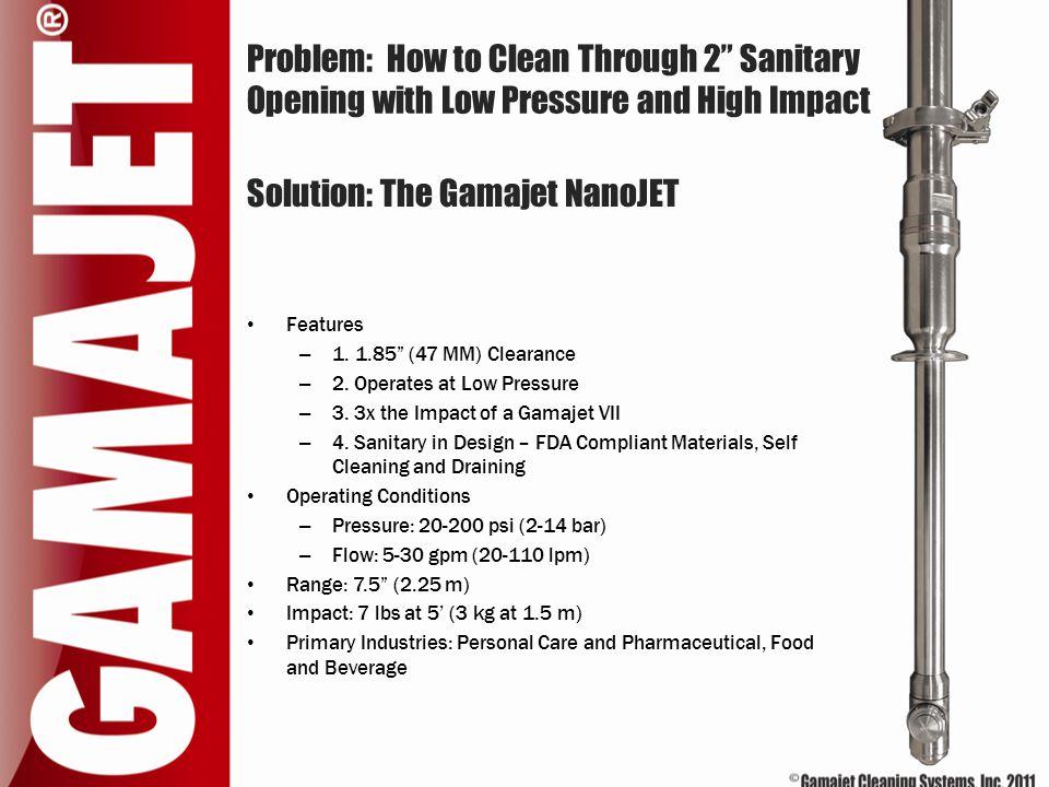 Solution: The Gamajet NanoJET