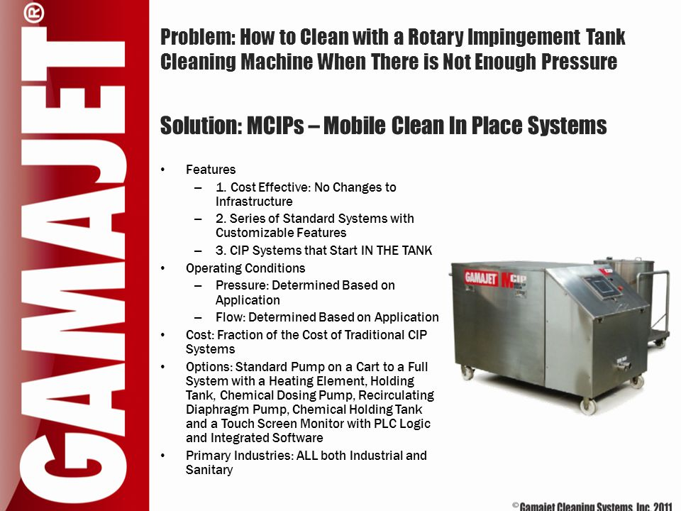 Solution: MCIPs – Mobile Clean In Place Systems