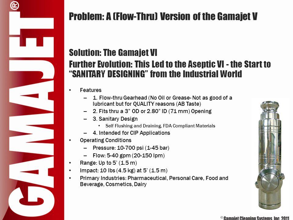 Problem: A (Flow-Thru) Version of the Gamajet V