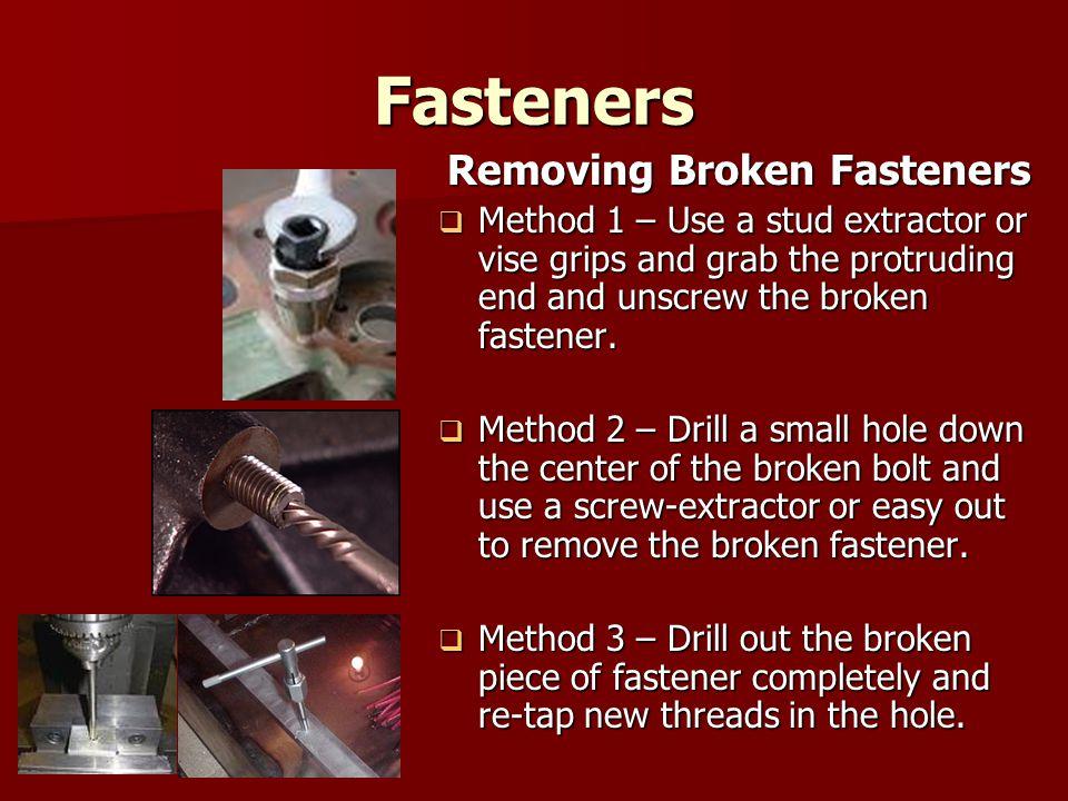 Removing Broken Fasteners