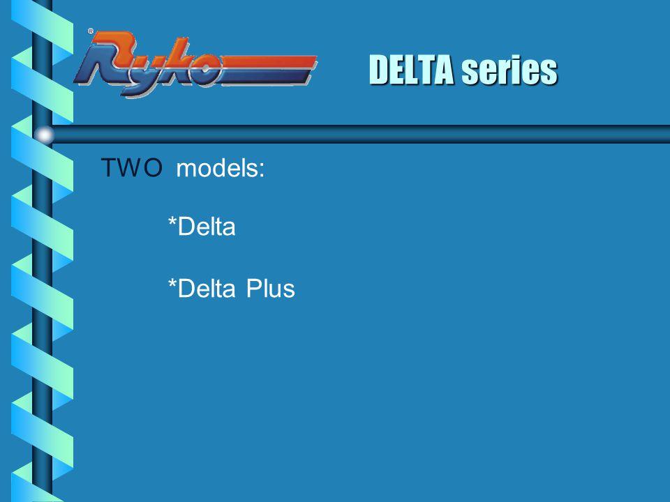 DELTA series TWO models: *Delta *Delta Plus