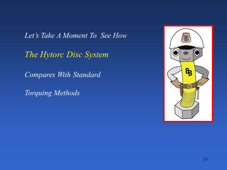 The Hytorc Disc System Let's Take A Moment To See How