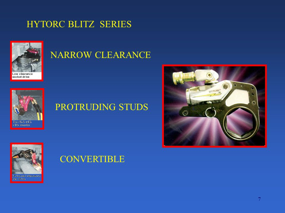 HYTORC BLITZ SERIES NARROW CLEARANCE PROTRUDING STUDS CONVERTIBLE