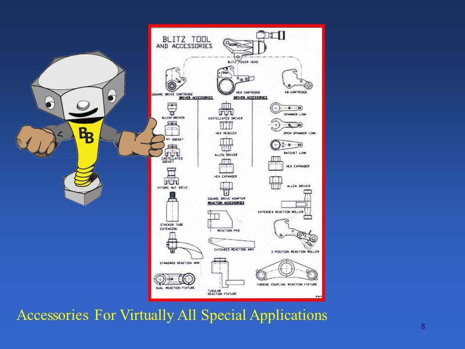 Accessories For Virtually All Special Applications